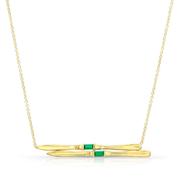 Emerald Ski Necklace