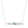 Ski Necklace- Emerald