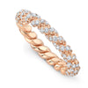 Diamond Rope Ring- 18k Pink Gold