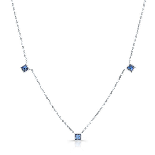 Square Sapphire by the Yard Necklace