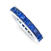 Square Sapphire Eternity Band