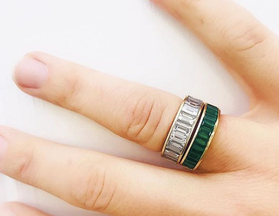 Medium Classic Emerald Baguette Band