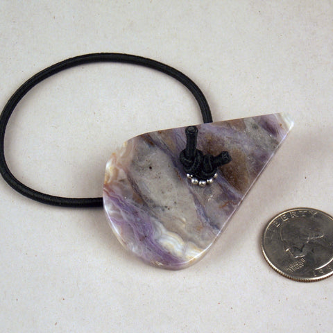 Tear Drop Burro Creek Agate Hair Tie