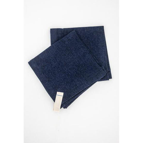 "Dark Denim Dinner Napkin 18"" Square"