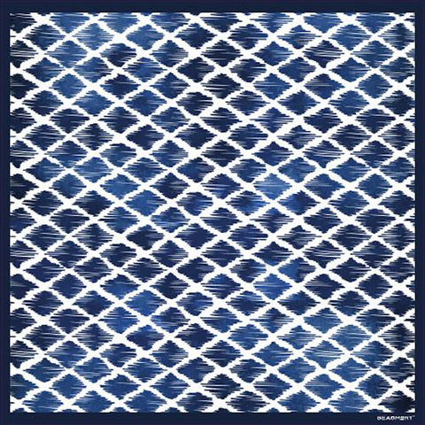 "Blue Meets Black Vinyl Rug 26"" x 39"""