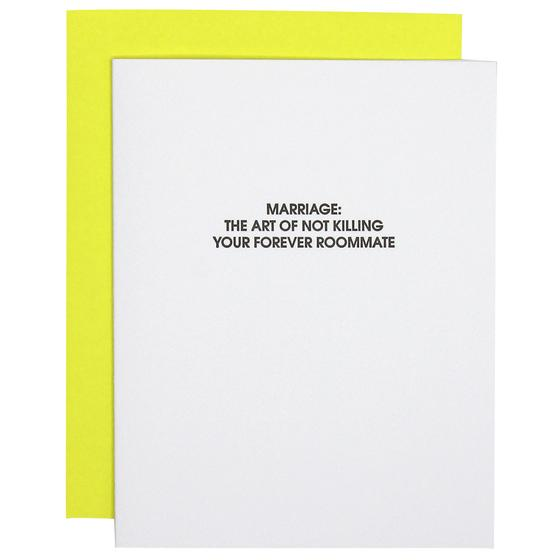 Marriage Forever Roommate Card