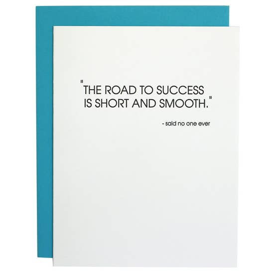 Road to Success Letterpress Card
