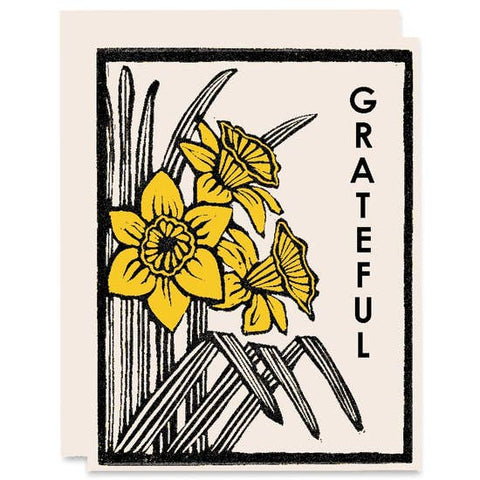 Grateful Daffodils Gratitude Card