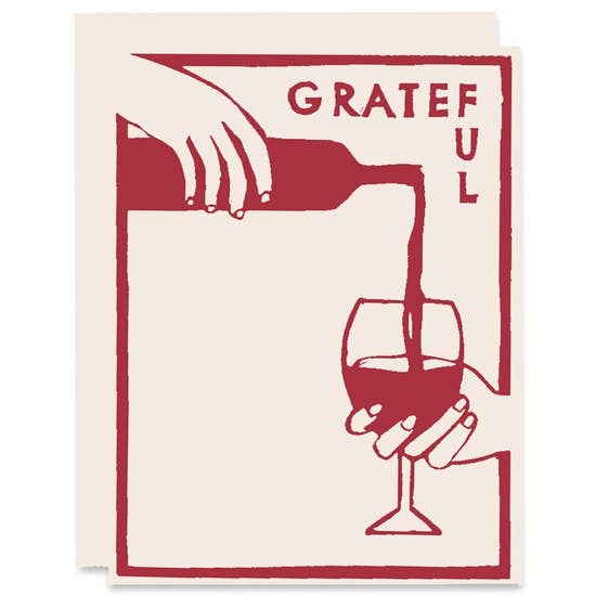 Grateful Wine Gratitude Card