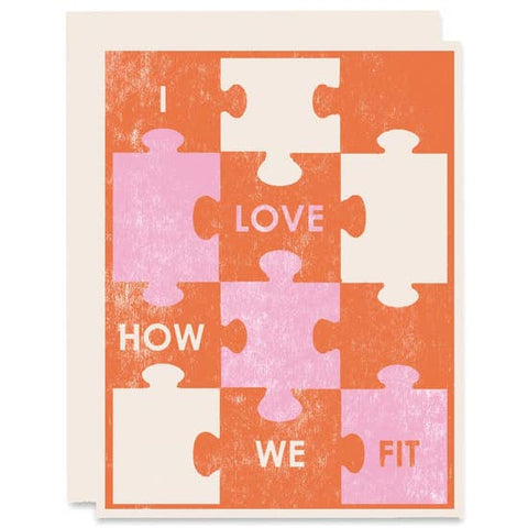 Love How We Fit Romace Card