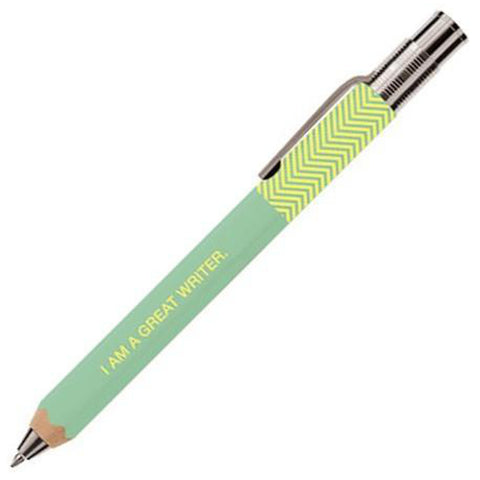 Mint Zig Zag Wooden Pen 1.0MM