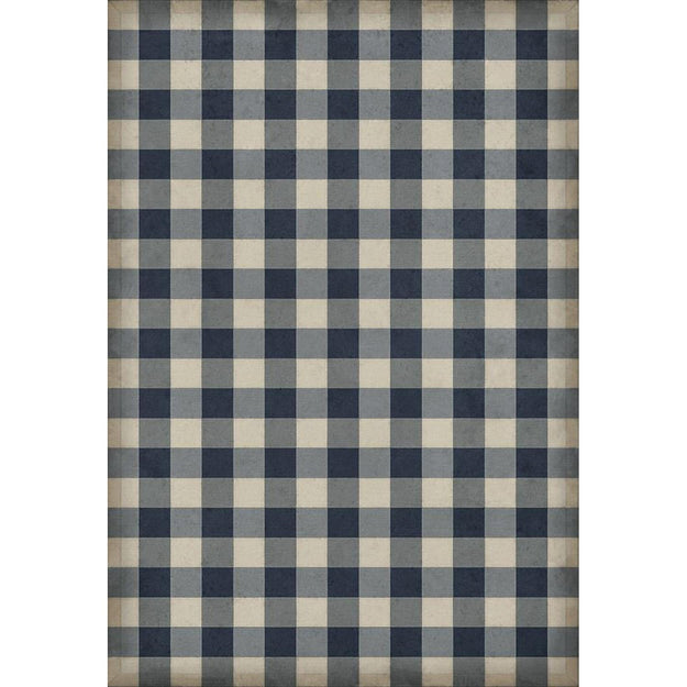 Williamsburg Blue Gingham Vinyl Rug