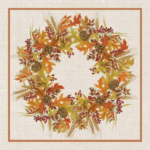 Harvest Wreath Beverage Napkins
