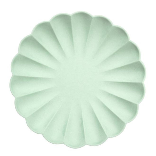 Large Pale Mint Eco Plates