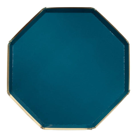 Dark Green Large Octagonal Plate