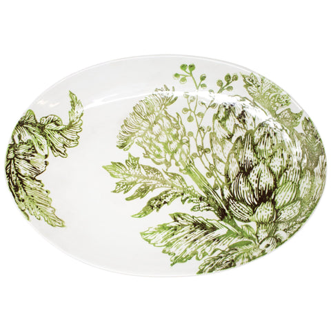 Artichokes Shallow Oval Bowl