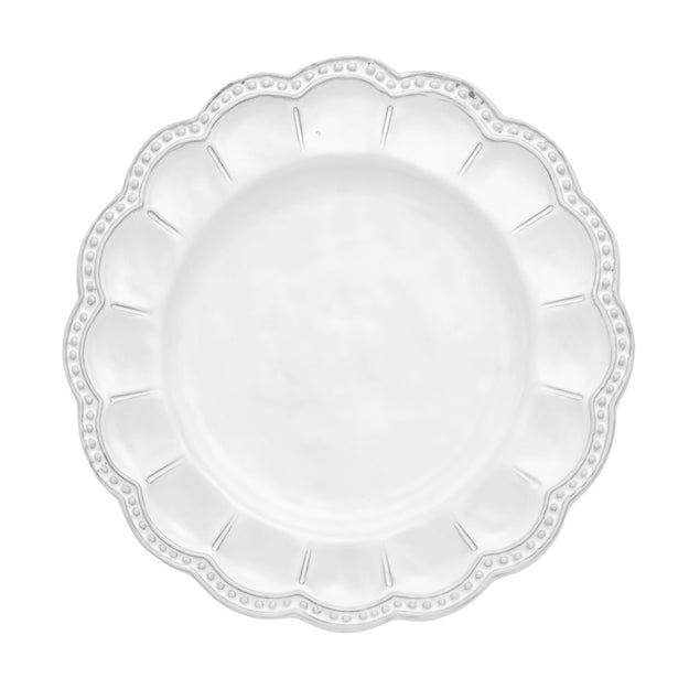 Bella Bianca Beaded Salad Plate