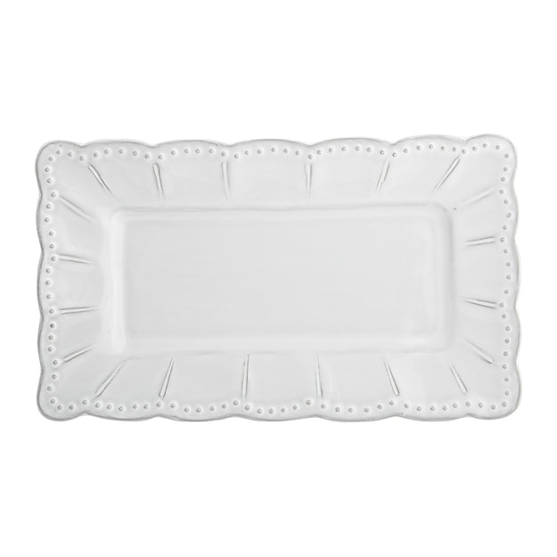 Bella Bianca Small Rectangular Platter