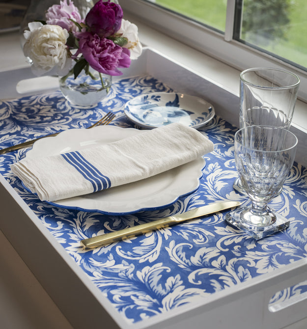 China Blue Acanthus Placemats 18 5 Quot X 12 5 Quot 30 Sheets Molly Hatch Hester Amp Cook