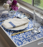 China Blue Table Top Paper Placemats Molly Hatch