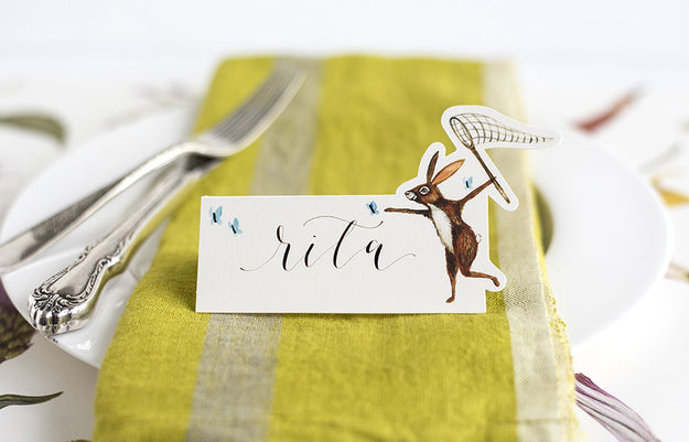 butterfly hunt place cards hester cook
