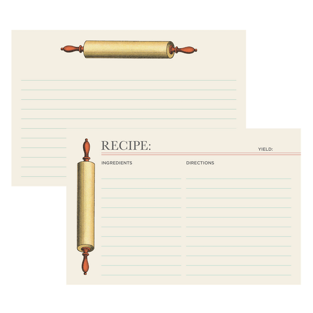 Rolling Pin Recipe Card