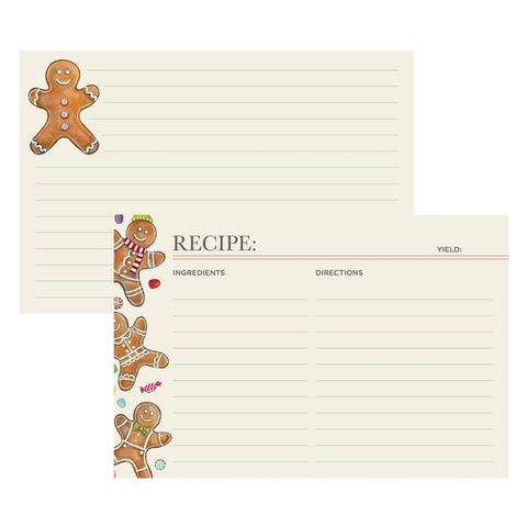 Gingerbread Man Recipe Card
