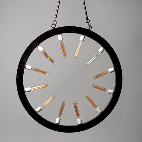 Circular Light w Edison Bulbs  round Prototype No. 12