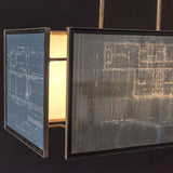 Vintage Blueprint Light