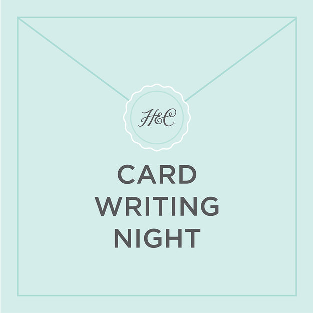 March Card Writing Night