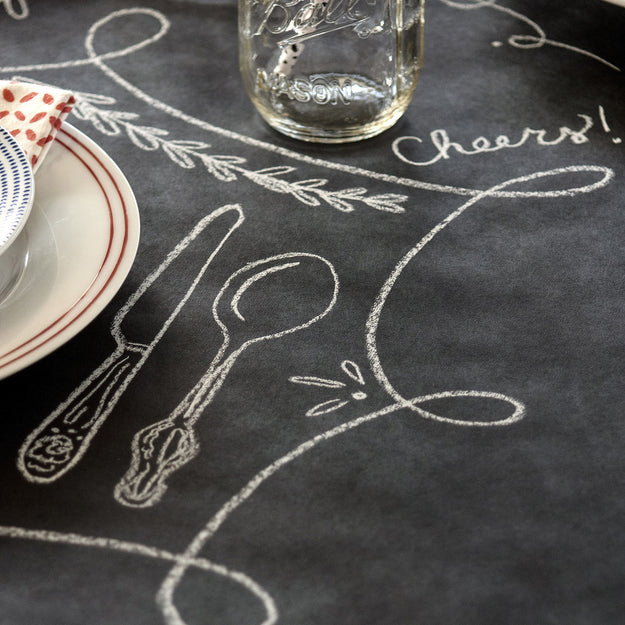 ... Chalkboard Paper Table Runner ...