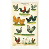 Chickens & Roosters Tea Towel