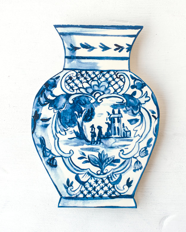 Die-Cut China Blue Vase Card