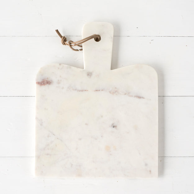 White Marble Paddle Cheese Board