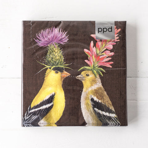 Goldfinch Couple Lunch Napkins
