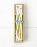 Tall Gold Party Candle Boxed