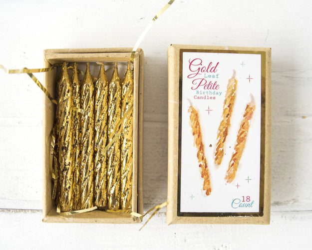 Gold Petite Party Candle, Boxed ST/18