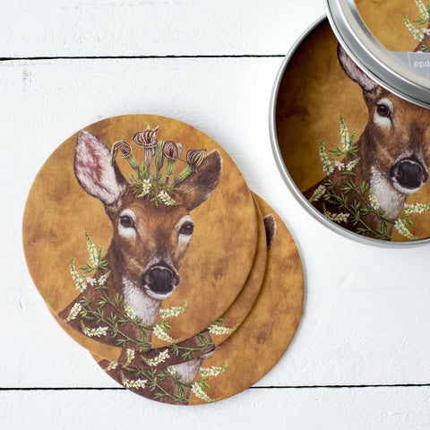 Paperboard Coaster Set- Woodland Princess