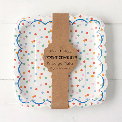 Toot Sweet Spotty Plate- Small & Large