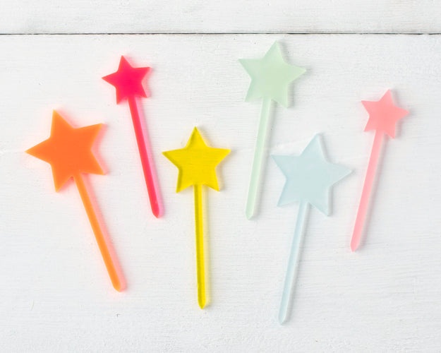 Neon Star Toppers