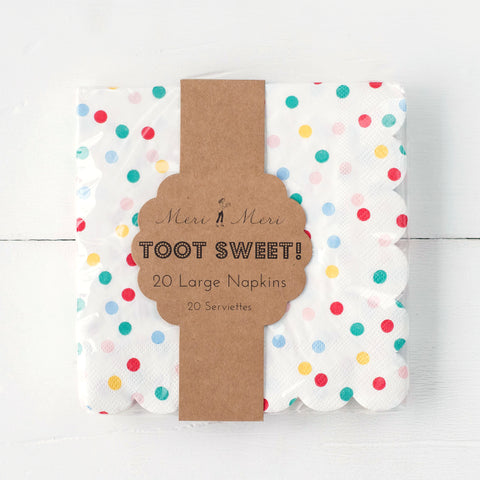 Toot Sweet Spotty Napkins- Small & Large