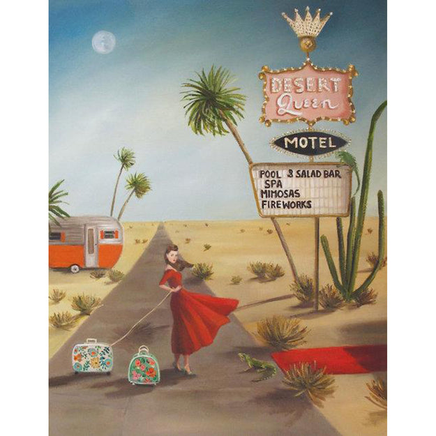 Desert Queen Motel Large Art Print