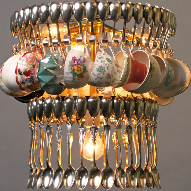 on teacup cup tea chandelier teapots chandeliers parties best images pinterest