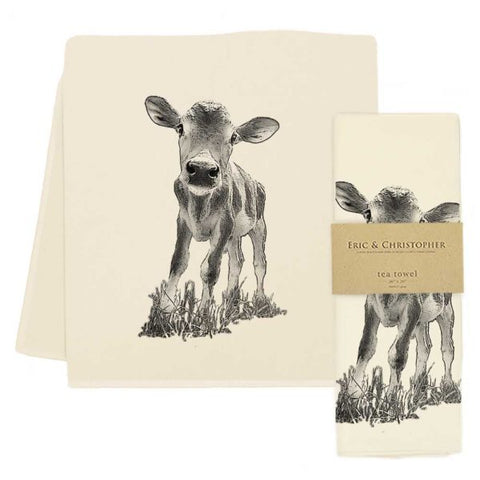 "Baby Cow ""Cowboy"" Tea Towel"