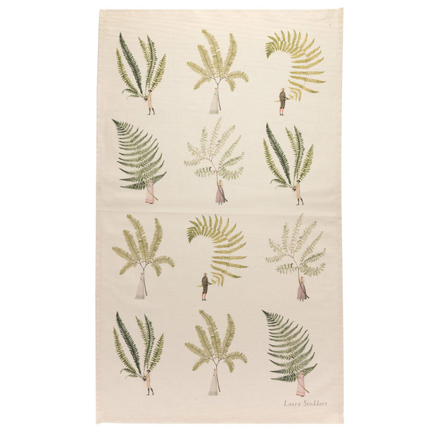 Multi Ferns Tea Towel