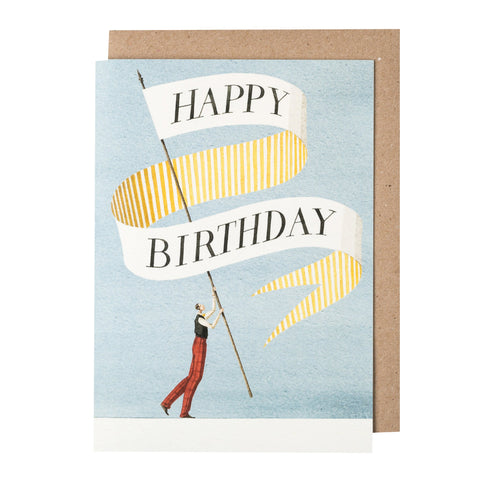 Birthday Banner Gent Greeting Card
