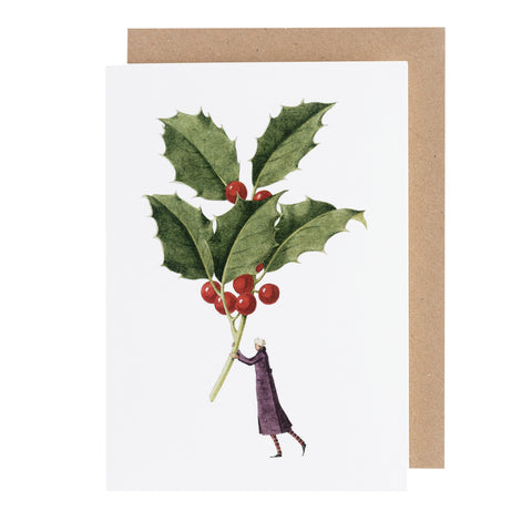 Holly Greeting Card