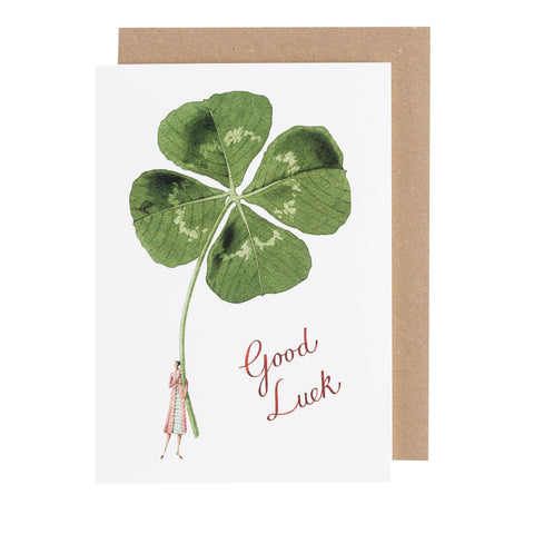 Good Luck Lady Greeting Card