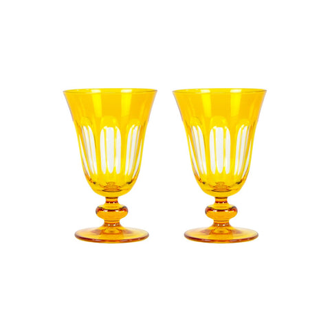Set of 2 Rialto Ginger (Dark Yellow) Glasses