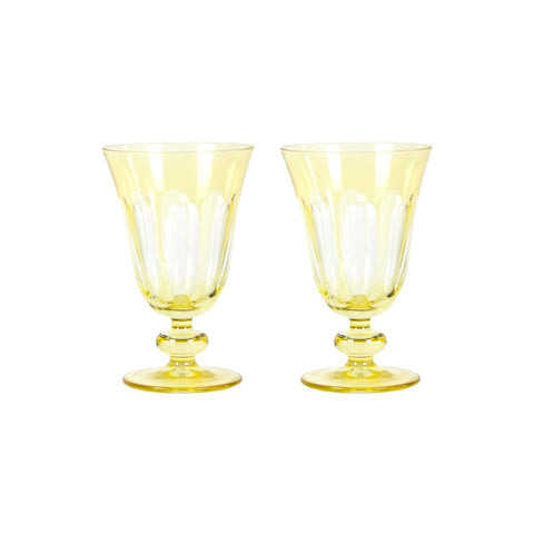 Set of 2 Rialto Limoncello (Light Yellow) Glasses